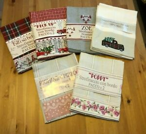 Pack of two tea towels, 100% cotton