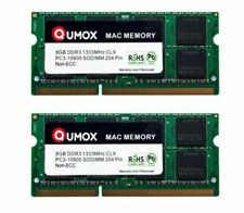 QUMOX 16GB (2 x 8GB) PC3-10600 (DDR3-1333) Memory (QXDDR31333CL9MAC/8GB x2)