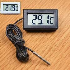 1PC LCD Digital Panel Temperature Meter Thermometer Waterproof Probe Cable New