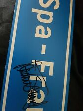 Hand Signed Sir Jackie Stewart  Spa road sign F1