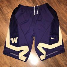 Nike Washington Huskies Basketball Practice Issue Team Player jersey Shorts Xl