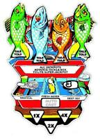 Fish Tales Pinball Machine Fish - Tackle Box Insert Decal Overlay SCREEN PRINTED