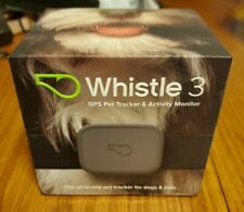 NEW Whistle 3 GPS Pet Tracker and Activity Monitor (Gray) Dog Cat GPS Waterproof