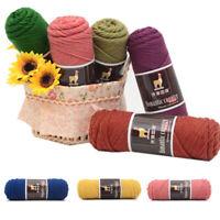 100g Thick Yarn Colorful Alpaca Wool Yarn DIY Knitting Apparel Crochet Sewing