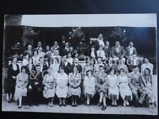 c1932 RPPC: BALMORAL Private Hotel: Large Group Photograph - Unknown location