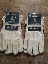 2 x Kent & Stowe  Luxury Leather Gardening Gloves Size S Ladies