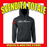 FELPA CAPPUCCIO ALFA ROMEO 1 IDEA REGALO TOP AUTO TUNING MOTO NERA UOMO DONNA