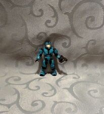 Halo Mega Bloks Cyan UNSC CQB Spartan - Series 3 Figure - Minifig - Rare - Used