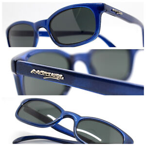 Made IN Italy Sunglasses Men Woman Rectangular Oval Brown Blue Vintage