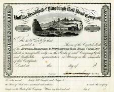 18__ Buffalo Bradford & Pittsburgh RR Stock Certificate