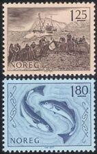 Noruega 1977 barcos de pesca de la industria// pescado/redes/business/Comercio/Art 2v Set n44869