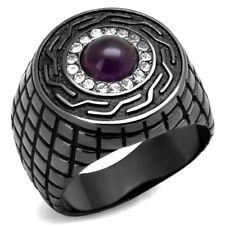 Joyería de color principal negro circonita para hombre