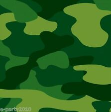 MILITARY CAMOUFLAGE LUNCH NAPKINS (16) ~ Birthday Party Supplies Dinner Green