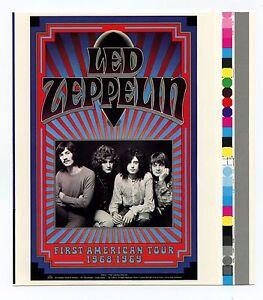 Led Zeppelin Handbill 1968 1969 First American Tour Gary Grimshaw