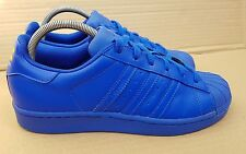 ADIDAS SUPERSTAR PHARRELL WILLIAMS TRAINERS BLUE SIZE 5.5 UK SUPERCOLOUR