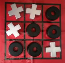 Invotis Noughts & Crosses Game Foam with Vinyl Base For Kids Students Pub