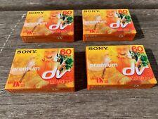 4 x Sony new and sealed Premium Mini DV Digital Video Cassettes 60 LP:90