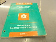 1993 1994 1995 41TE/AE Chrysler Dodge Plymouth FWD Service Manual OEM FREE Ship
