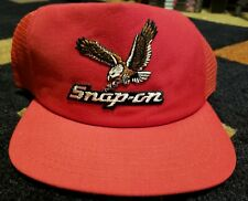☆☆ Rare! Vintage Snap-on Tools Truc 00006000 ker Hat Red Snapback New Era Made in Usa!☆☆