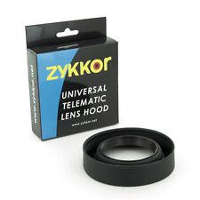Zykkor 62mm 3 stage Position Wide Tele Standard Rubber Lens Hood for DLSR Camera