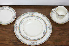 Lenox New Spring Vista 5pc Place Setting Floral Flowers White Green Gold Rim