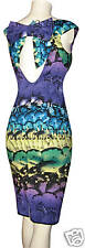 KAREN MILLEN PURPLE & GREEN BUTTERFLY DRESS SZ 14 BNWT