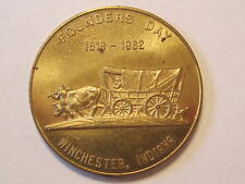 Founders Day Medal, Winchester, Indiana, 1818-1962