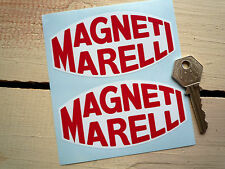 "MAGNETI MARELLI Race Car STICKERS 4"" Red & White F1 Ferrari Classic Racing Rally"