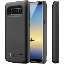 Galaxy Note 8 Battery Case Ultra Slim Protective Charging Cover Power Bank-Black