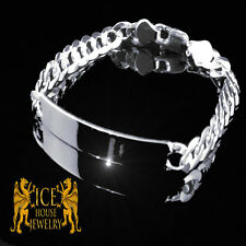 SOLID STERLING SILVER .925 MEN'S OR WOMEN'S MIAMI CUBAN LINK CHAIN ID BRACELET