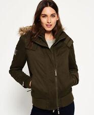 Superdry Khaki Green Waterproof Wind Jacket Coat Size 12 (y15)