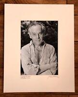 "Vintage Bela Kalman Signed Photograph Print ""Gyorgy Kepes"" Wellfleet, MA 1977"