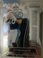 Peyton Manning 2019 Prizm Legendary Talents Insert. +10 Colts cards.