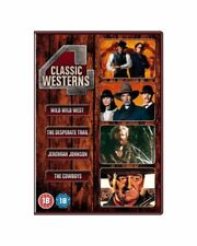 4 Classic Westerns -(Jeremiah Johnson + The Cowboys + 2 MORE)DVD Cheap Fast Free