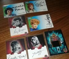 Doctor Who trading cards x7 - 6 autograph and 1 film cell - Pitt Pearce Langford