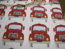 Pottery Barn Kids firetruck flannel duvet  damaged  New with tags