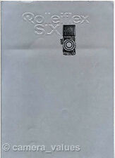 Rolleiflex SLX Camera, Lens & Accessory Sales Brochure. More Rollei Books Listed