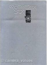Rolleiflex slx caméra, objectif & accessoire sales brochure. plus rollei livres mis en vente