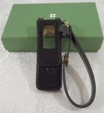 Kate Spade ipod Shuffle Black Case with Snap Closure and Handle Wristlet - New