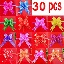 Pull Bow Ribbon 30 Flower Birthday Party Wedding Gifts Easy To Make Xmas Party