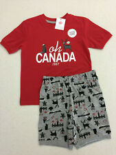Canada Red T-shirt & Shorts Gift! Girl's Size S 6. Moose, Beaver! Ships from USA