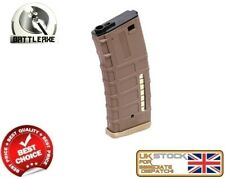 BATTLEAXE M SERIES M4/16 MID CAP 120 MAGAZINE DARK EARTH AIRSOFT ASG LNN1001
