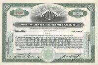 Sun Oil Company Common Stock Certificate Green 1930-40's