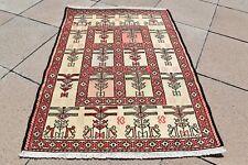 1990's Never Been Used Caucasian Silk Soumak Kilim Oriental Silk Soumak Kilim