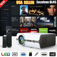 5000 Lumens 1080P HD LED Projector 3D Multimedia Home Theater HDMI USB SD AV VGA