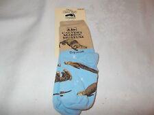 New For Bare Feet Otter Clavert Marine Museum Toddler Socks Age 9 - 24 Mo