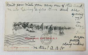 1904 Block Island RI Bathing Beach Postcard published by Mid Ocean