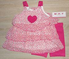 Baby Mädchen 💕 Sommer Kleid 💕 Set 2tlg 💕 Kleid + Leggings 💕 seidige Volants