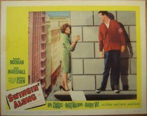 Romance Movie 1961 Lobby Card: Swingin' Along w/Barbara Eden & Tommy Noonan