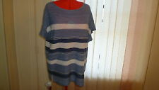 NWT Ralph Lauren cotton+linen top/tunic in multi short sleeves boat neck size 3X